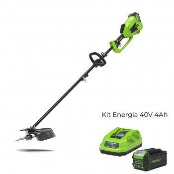 Foto - Decespugliatore elettrico GD40BC con Kit Energia 40V 4Ah Greenworks