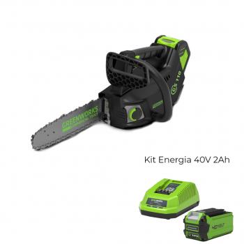 Foto - Motosega a batteria GD40TCS con Kit Energia 40V 2Ah Greenworks