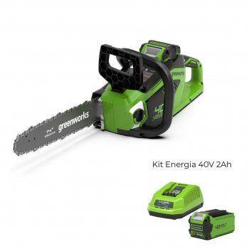 Foto - Motosega a batteria GD40CS15 con Kit Energia 40V 2Ah Greenworks