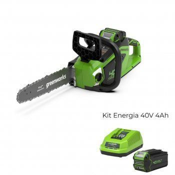 Foto - Motosega a batteria GD40CS15 con Kit Energia 40V 4Ah Greenworks
