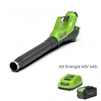 Foto - Soffiatore a batteria G40AB con Kit Energia 40V 4Ah Greenworks