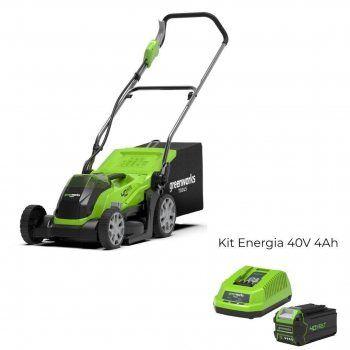 Foto - Rasaerba a batteria G40LM35 con Kit Energia 40V 4Ah Greenworks