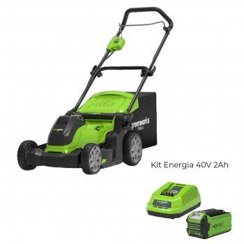 Foto - Rasaerba a batteria G40LM41 con Kit Energia 40V 2Ah Greenworks