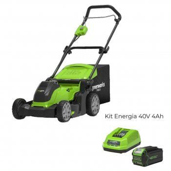 Foto - Rasaerba a batteria G40LM41 con Kit Energia 40V 4Ah Greenworks